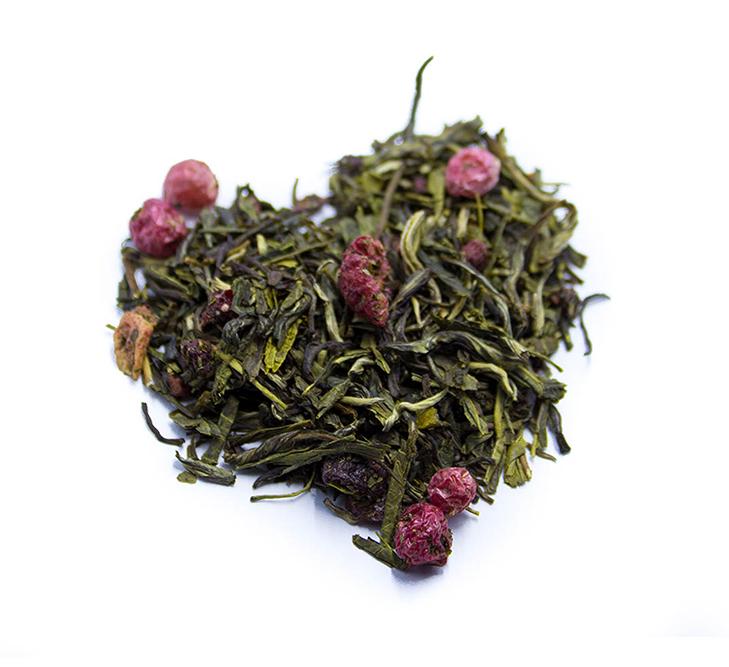 Tè Sencha e frutti rossi