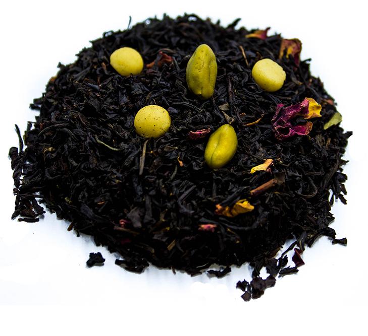 Tè Nero pistacchio e marzapane